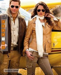 f7b7a03859 look by Eddie Bauer  the Leather Aviator Jacket