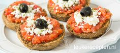 Dakos - Grieks Broodje met Tomaat en Feta
