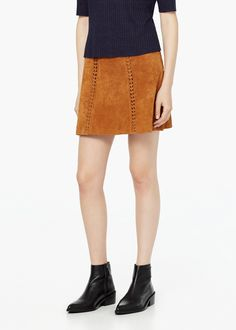 Suede skirt - Skirts for Women | MANGO