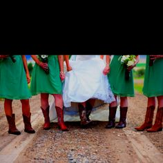 Cowboy boots with the dress.. umm yes!!<3