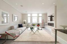 white modern minimalist living room