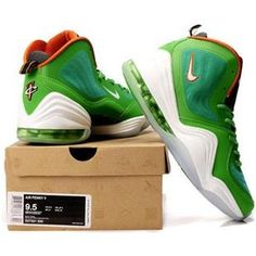 http://www.asneakers4u.com/ Nike Air Penny 5 V  Penny Hardaway Shoes Dolphins Green Sale Price: $67.90