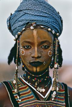 """""""Young Wodaabe Man, Africa, 1986"""" by Steve McCurry"""