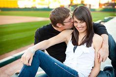 Themed Engagement Photos - Baseball Engagement Photos | Wedding Planning, Ideas & Etiquette | Bridal Guide Magazine