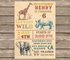 Hey, I found this really awesome Etsy listing at https://www.etsy.com/listing/245998608/wild-safari-invitation-zoo-invitation