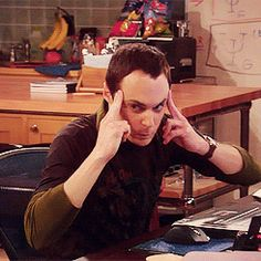 """Sheldon Big Bang Theory """"Sheldon you can't make my head explode with your mind!"""" exclaimed Leonard 20 times that episode."""