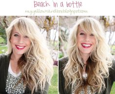 DIY Beach in a Bottle - made this and it wasn't great.  I ended up dumping it.  Bumble and Bumble's Surf n Spray is still my go-to product for beach waves
