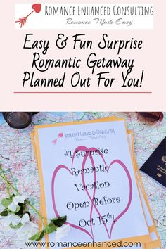 Get The Secrets To Pull Off The Perfect Romantic Getaway- With No Effort On Your Part And Let Your Romance Coach Plan It Out For You! #romanticgetaway #surpriseromatnicweekend #reconnect #romanticvacay #romanticgifts #easyromanticgetaway #getawayideas #romantichelp #easyromanticgetawayideas