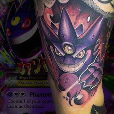Mega gengar!!! Realizado con @artdriver_tattoomachines  para horas y consultas escribirme a nimutattoo@gmail.com