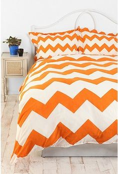 how cute would this bedding look with dark gray walls?..SO cute is the answer!