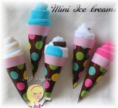 Baby wash cloth used for an ice cream treat .... Great for a baby shower gift.