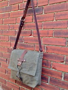 Men's Courier Bag by greengaragestudio.com Made in USA.