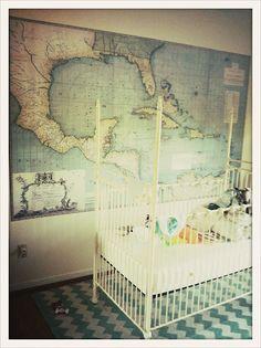Map for little boys nursery. via fairytales are true