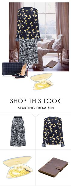 """""""CARROLL"""" by pursue-happiness ❤ liked on Polyvore featuring Mother of Pearl, Rear View Prints and Christian Louboutin"""