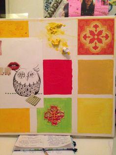 Colagem e pintura em processo