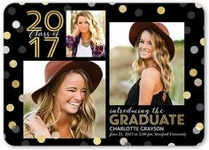 Graduation Announcements: Spectacular Confetti,  Announcement, Rounded Corners, Dynamiccolor