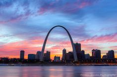 St. Louis Skyline Photography - Saint Louis Print - St. Louis Sunset, Gateway Arch, St. Louis Arch, Downtown Skyline, Fine Art Photo on Etsy, $20.00