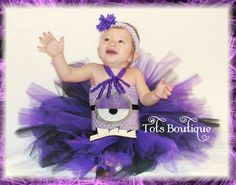 Despicable MeEvil Minion Inspired tutu dress wtih by TotsBoutique, $35.00