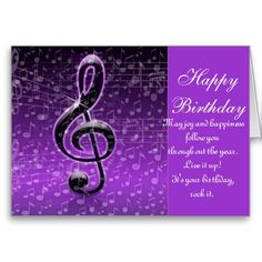 Purple Rocks!_ Greeting Card Purple and white Birthday greeting card. also you can customize this card for Any Occasions. Low Prices on all cards. by Elenne Boothe http://www.zazzle.com/purple_rocks_greeting_card-137546534331074150?rf=238856283564176692  #Greeting Cards #Birthdays Cards #Birthday #Zazzle.Com/Elenne #Zazzle #Music # Music-Notes