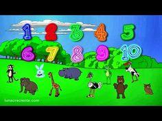 Números para niños en español - Aprender a contar del 1 al 10 con Los Animales del Zoo - YouTube