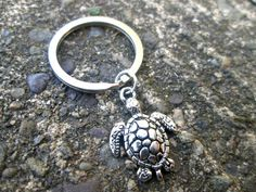 Sea Turtle Key Chain Nature Key Chain Party by ThePeapodShop