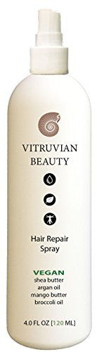 Advanced Repair Treatment by Vitruvian Beauty  Sulfate Free Split End Repair Treatment  at Home Natural Treatment for Dry Damaged Hair ** Want additional info? Click on the image.