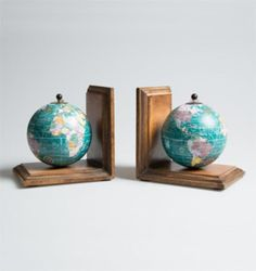 Blue World Map Bookends are the perfect gift for the wanderlust at heart. This stylish decorative Globe bookends can be used as part of a display on a mantelpiece or as a feature on their own, plus the globes actually spin! £22.99 from Holly House Gifts at the Enterprise Shopping Centre, http://www.enterprise-centre.org/shop/holly-house-gifts