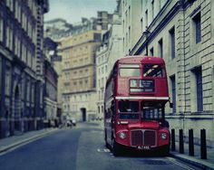 My kitchen is inspired by images like this. I have London Red cookware, towels, salt shakers, tuberware, and a couple of black'n'white photos with the double-decker London bus.and London Red wine. London Photography, Aerial Photography, Vintage Photography, Art Photography, Birmingham, London Bus, London Wall, London Life, Routemaster