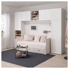 Platsa Wardrobe White Fonnes Sannidal Ikea Alex Bedroom In Spare Bedroom Closets, Bedroom Closet Design, Small Room Bedroom, Interior Design Living Room, Small Bedrooms, Wardrobe In Bedroom, Modern Bedroom, Bedroom Furniture, Bedroom Decor