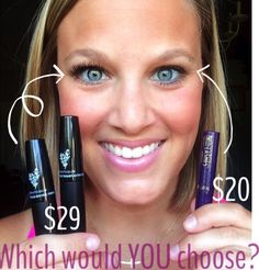 Which would you choose? YOUNIQUE mascara: Enriched with Uplift Eye Serum, Opthamologist approved 3d Mascara, 3d Fiber Lashes, 3d Fiber Lash Mascara, Uplift Eye Serum, 3 D, Mascara Review, Younique Presenter, Eye Make Up, Amazing