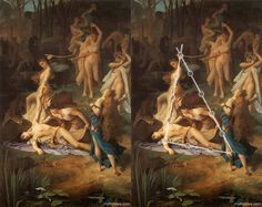 The Death of Orpheus, by Emile Levy (1826-1890), French Academic painter