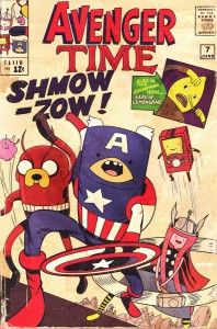 What If The Avengers And Adventure Time Were One In The Same? via The Mary Sue