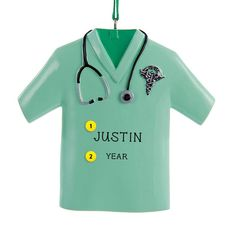 Need a great gift for a medical student, you favorite Dr. or a Greys Anatomy fan? Personalize our Doctor's Scrubs Ornament Residency Medical, Emergency Doctor, Doctor Scrubs, White Coat Ceremony, Becoming A Doctor, Old World Christmas Ornaments, Medical Gifts, Doctor Gifts, Personalized Christmas Ornaments