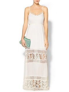 Crochet Inset Maxi Dress Product Image