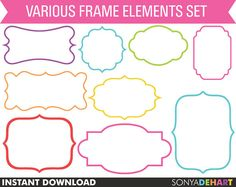 50 OFF SALE Digital Frames Borders Instant by SonyaDeHartDesign
