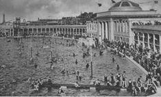 No other building is so evocative of inter-war holidays than the lido or open air swimming pool. Sun Worship, British Seaside, Seaside Towns, Blackpool, Outdoor Pool, Brighton, Paris Skyline, Swimming Pools, Mysterious