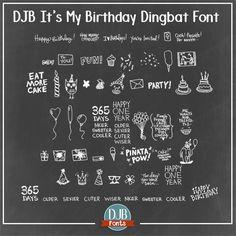 Image for DJB It's My Birthday font