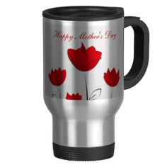 Happy Mother's Day Red Flowers Coffee Mugs