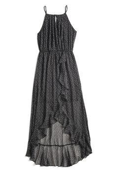 Always love polka dots. And finally a maxi dress with a higher neckline!