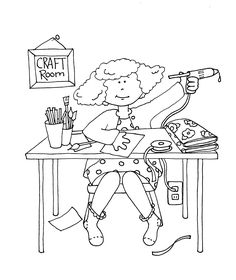 Free Dearie Dolls Digi Stamps: Craft Room