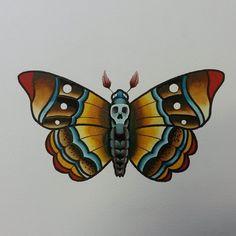 death head moth tattoo - Google Search