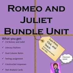 Is your Romeo and Juliet Unit as dusty as Ancient Verona? Are you a brand new teacher that must teach the most famous love story in the world tommorrow? Problems solved. Let my creative standard based style lead you through this classic. Your class will n