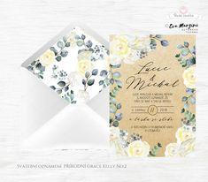 Svatební oznámení s krémovými a béžovými květy s lístky v přírodním stylu rustic vintage. Autorská tvorba od www.BudeVeselka.cz. Grace Kelly, Container, Canisters