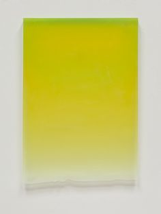 Caution Yellow Drip, 2011, Polyester Resin, 25 x 17 1/2 x 1 1/4""