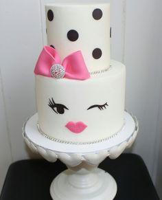 Kate spade inspired birthday cake for @beautifulstarglam! 28 & fabulous ♡ *Original design via @sweetbakes_