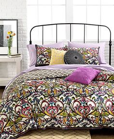 Mosaic Damask 3 Piece Duvet Cover Sets for bunkbeds basement. *