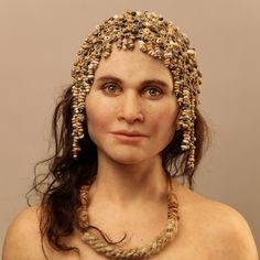 Artist's Rendering  --  'The Magdalenian Woman'  --  15,000 years old  --  Cap Blanc, France