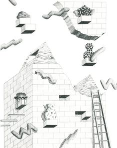Drawings by artist Clay Hickson