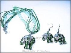 Coordinato collana con orecchini Elefante, by Il Baule In Soffitta, 4,00 € su misshobby.com