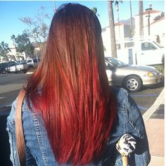 I want a red ombre like this!!